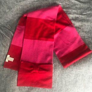 Kate Spade Red & Pink Scarf